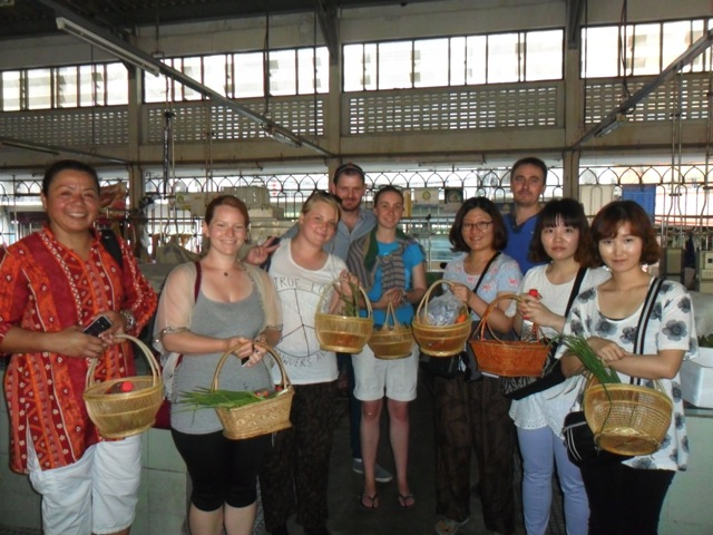 Our cooking class at the market in Bangkok