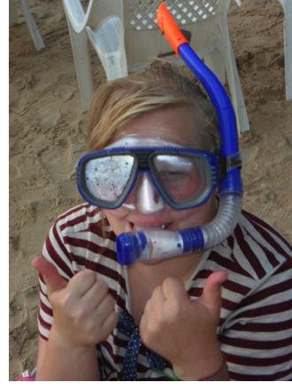 My beautiful snorkelling kit.