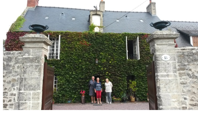 My first Airbnb stay in Bayeux, France.