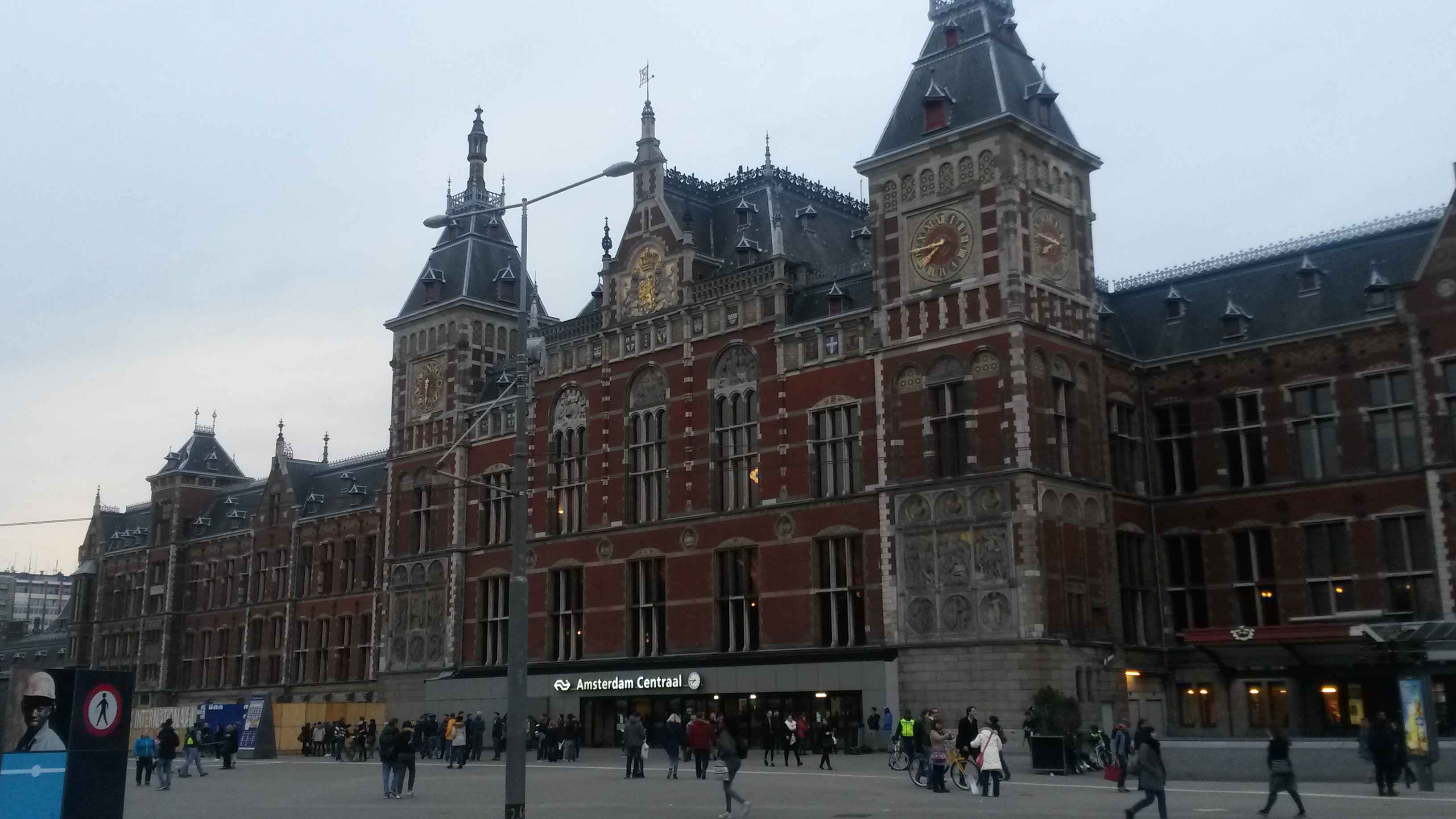 Centraal Station in Amsterdam